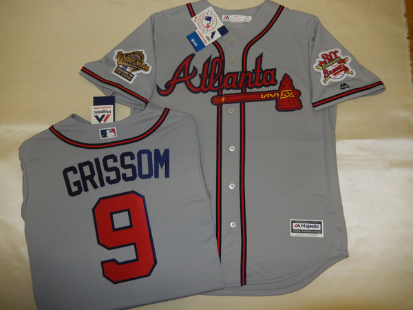 1995 World Series Atlanta Braves MARQUIS GRISSOM Gray Jersey
