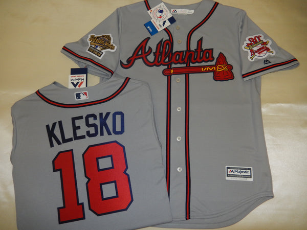 1995 World Series Atlanta Braves RYAN KLESKO Gray Jersey
