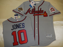 1995 World Series Atlanta Braves CHIPPER JONES Gray Jersey
