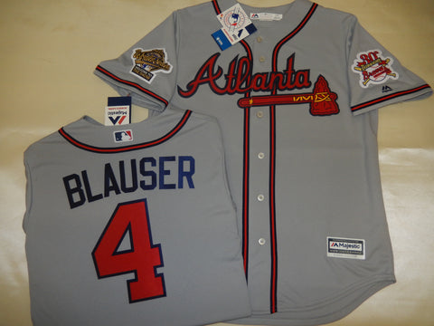 1995 World Series Atlanta Braves JEFF BLAUSER Gray Jersey
