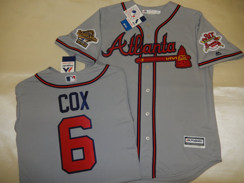 1995 World Series Atlanta Braves BOBBY COX Gray Jersey