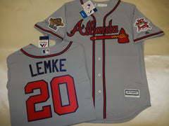 1995 World Series Atlanta Braves MARK LEMKE Gray Jersey