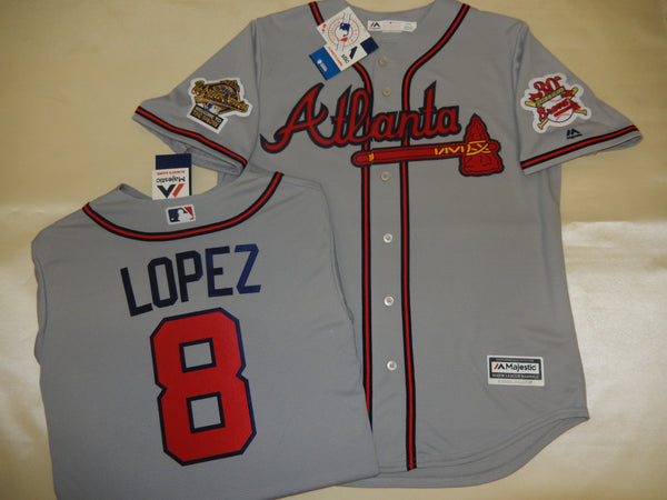 1995 World Series Atlanta Braves JAVIER LOPEZ Gray Jersey