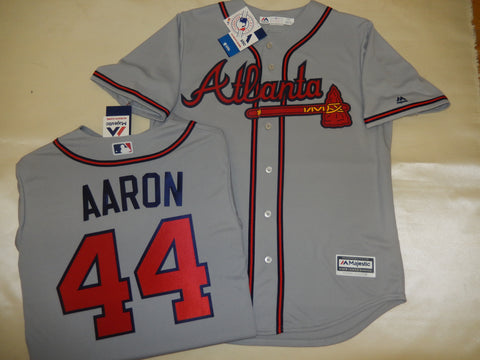 Atlanta Braves HANK AARON Baseball Gray Jersey