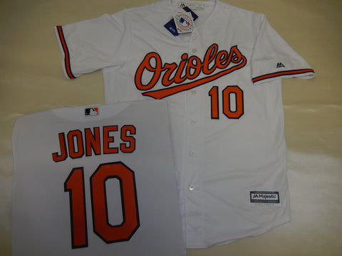 Majestic Baltimore Orioles ADAM JONES Baseball Jersey White