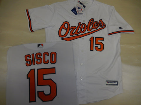Majestic Baltimore Orioles CHANCE SISCO Baseball Jersey White