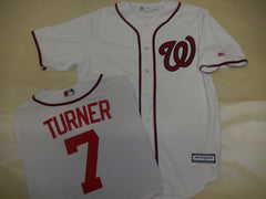 Majestic Washington Nationals TREA TURNER Baseball Jersey White
