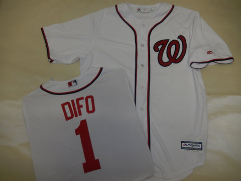 Majestic Washington Nationals WILMER DIFO Baseball Jersey White