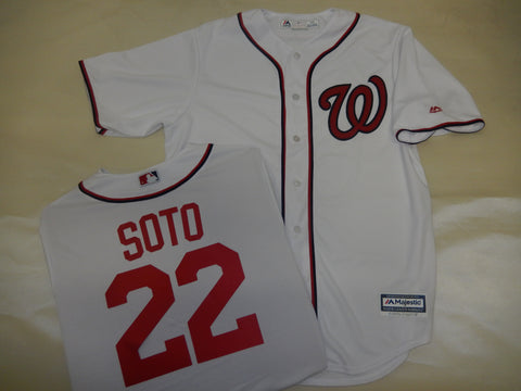 Majestic Washington Nationals JUAN SOTO Baseball Jersey White