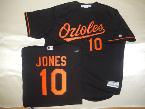 Majestic Baltimore Orioles ADAM JONES Baseball Jersey BLACK