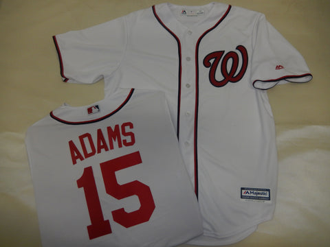 Majestic Washington Nationals MATT ADAMS Baseball Jersey White