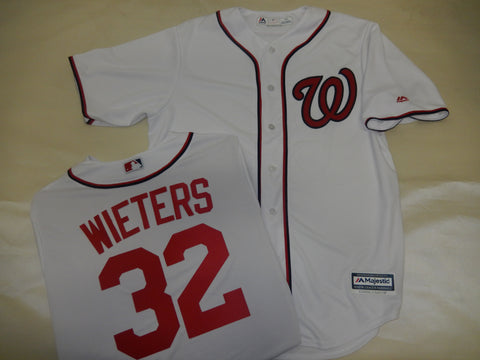 Majestic Washington Nationals MATT WIETERS Baseball Jersey White