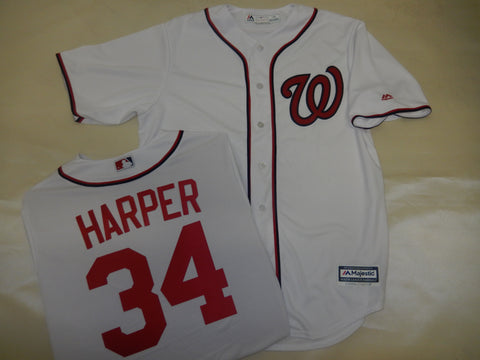 Majestic Washington Nationals BRYCE HARPER Baseball Jersey White