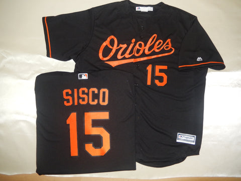 Majestic Baltimore Orioles CHANCE SISCO Baseball Jersey BLACK