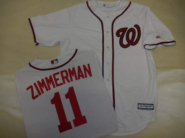 Majestic Washington Nationals RYAN ZIMMERMAN Baseball Jersey White