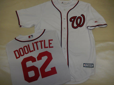 Majestic Washington Nationals SEAN DOOLITTLE Baseball Jersey White