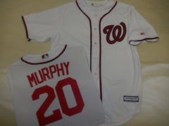 Majestic Washington Nationals DANIEL MURPHY Baseball Jersey White