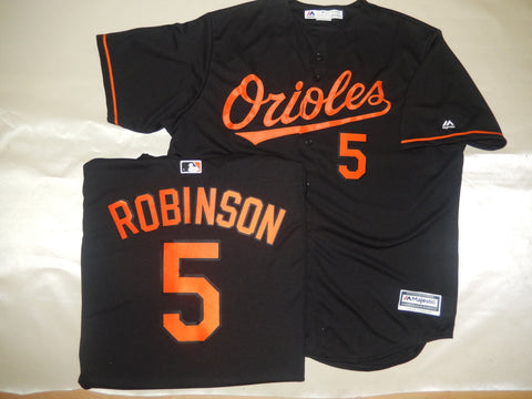 Majestic Baltimore Orioles BROOKS ROBINSON Baseball Jersey BLACK