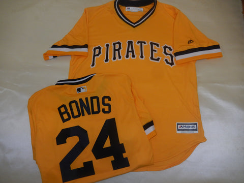 Majestic VINTAGE Pittsburgh Pirates BARRY BONDS Baseball Jersey GOLD