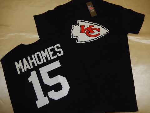 Kansas City Chiefs PATRICK MAHOMES Football Eligible Receiver Shirt BLACK