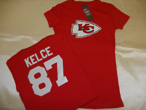 WOMENS Kansas City Chiefs TRAVIS KELCE Football Eligible Receiver Shirt RED