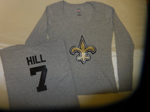 WOMENS New Orleans Saints TAYSOM HILL Football Eligible Receiver Shirt GRAY