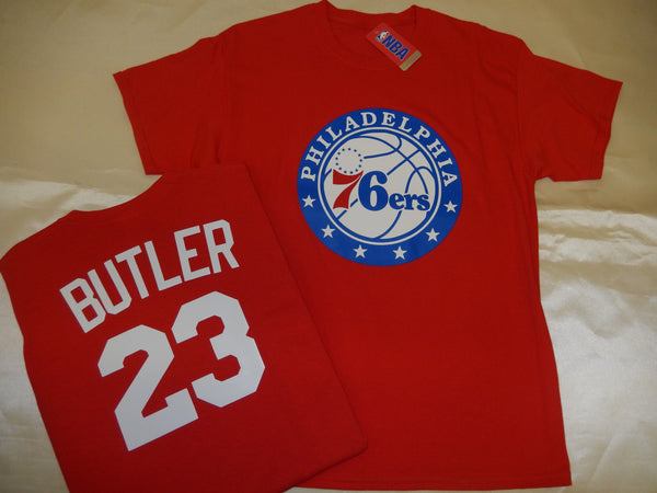 Philadelphia 76ers JIMMY BUTLER Name and Number Shirt RED