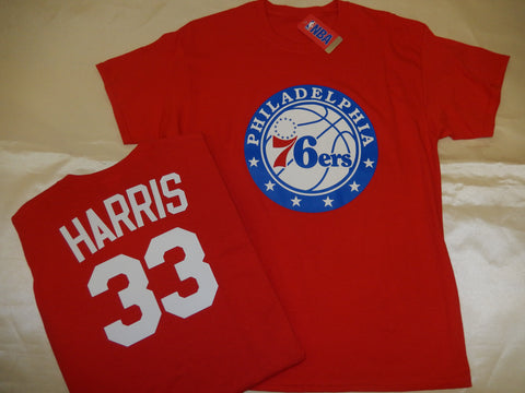 Philadelphia 76ers TOBIAS HARRIS Name and Number Shirt RED