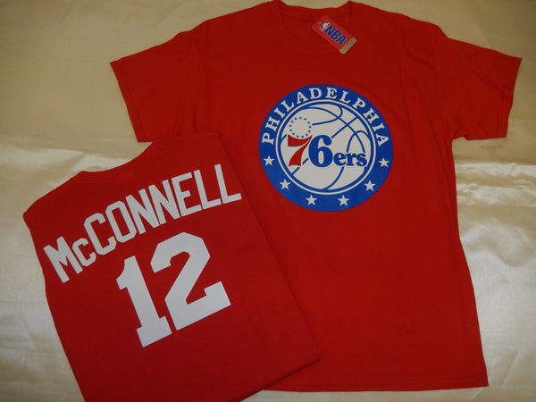 Philadelphia 76ers TJ McCONNELL Name and Number Shirt RED