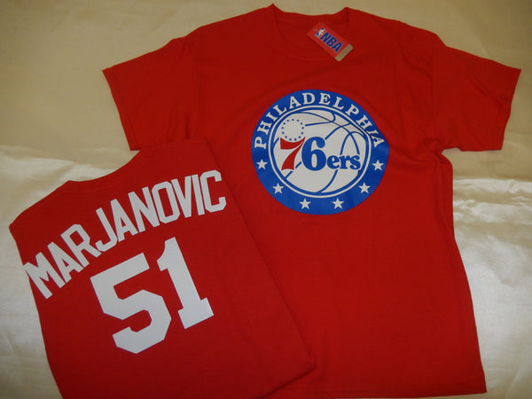Philadelphia 76ers BOBAN MARJANOVIC Name and Number Shirt RED