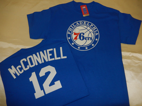 Philadelphia 76ers TJ McCONNELL Name and Number Shirt BLUE