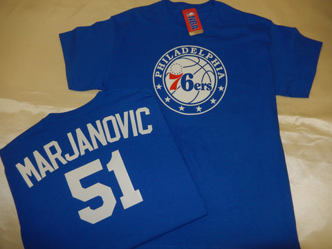 Philadelphia 76ers BOBAN MARJANOVIC Name and Number Shirt BLUE