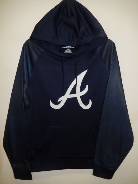 Majestic ATLANTA BRAVES Authentic Clubhouse Therma Base Hoodie Sweatshirt