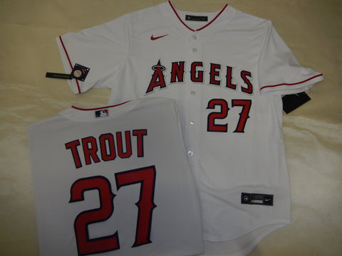 NIKE Anaheim Angels MIKE TROUT Baseball Jersey WHITE