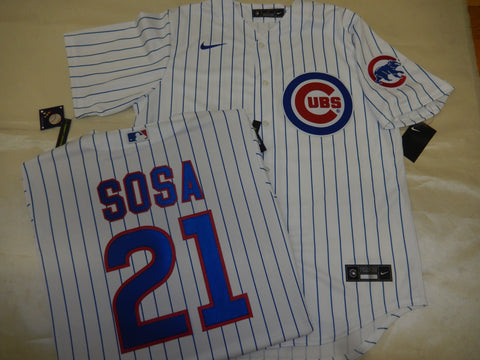 NIKE Chicago Cubs SAMMY SOSA Baseball Jersey WHITE