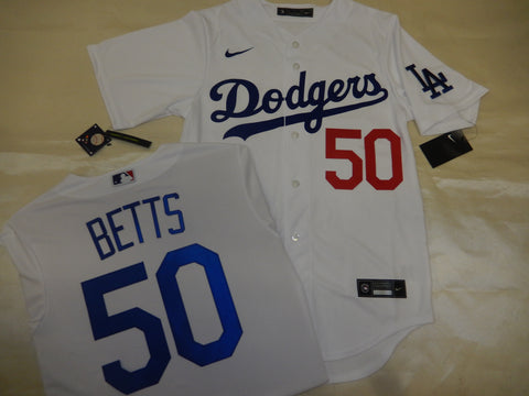 NIKE Los Angeles Dodgers MOOKIE BETTS Baseball Jersey WHITE