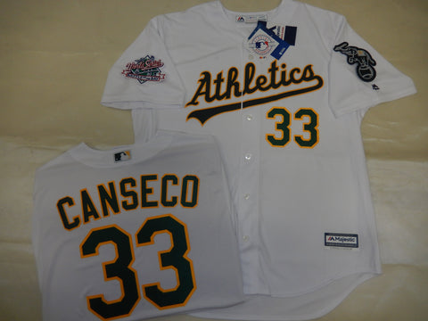 Oakland A's JOSE CANSECO 1989 World Series Baseball Jersey WHITE