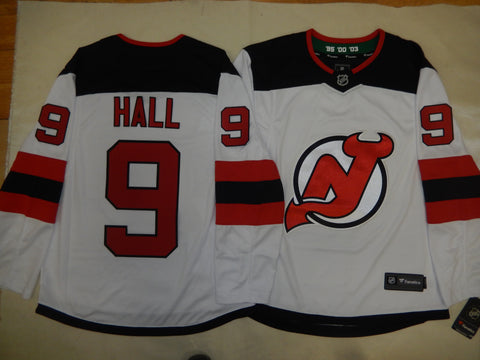 Reebok New Jersey Devils TAYLOR HALL Sewn Hockey Jersey WHITE