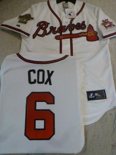 1995 World Series Atlanta Braves BOBBY COX White Jersey