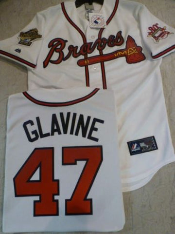 1995 World Series Atlanta Braves TOM GLAVINE White Jersey