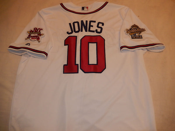 1995 World Series Atlanta Braves CHIPPER JONES White Jersey