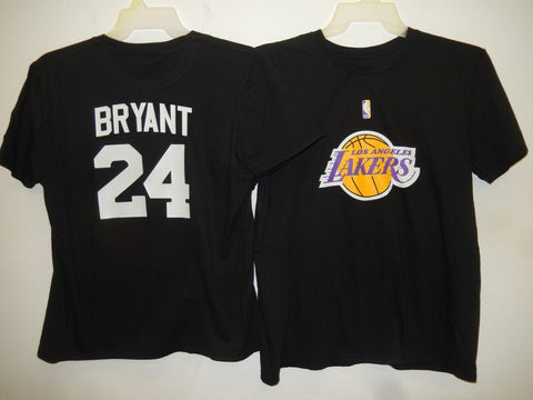 MENS Los Angeles Lakers KOBE BRYANT Basketball Shirt BLACK