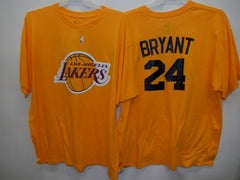 MENS Los Angeles Lakers KOBE BRYANT Basketball Shirt GOLD