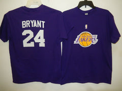 MENS Los Angeles Lakers KOBE BRYANT Basketball Shirt PURPLE