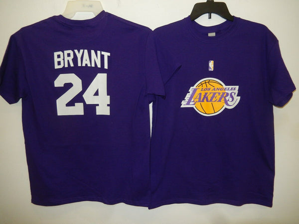 BOYS Youth Los Angeles Lakers KOBE BRYANT Basketball Shirt PURPLE