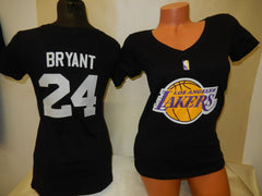 WOMENS Los Angeles Lakers KOBE BRYANT Basketball Shirt BLACK
