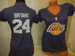 WOMENS Los Angeles Lakers KOBE BRYANT Basketball Shirt PURPLE