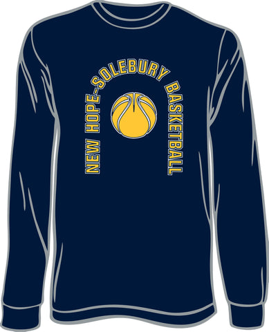 New Hope Solbury Basketball Long Sleeve Cotton T-Shirt