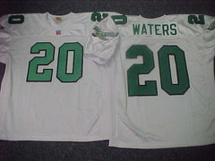 Philadelphia Eagles ANDRE WATERS Sewn Throwback Vintage Football Jersey WHITE