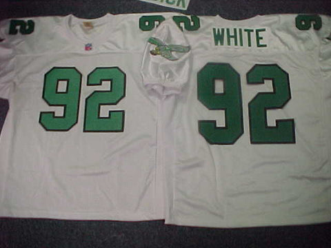 Philadelphia Eagles REGGIE WHITE Sewn Throwback Vintage Football Jersey WHITE